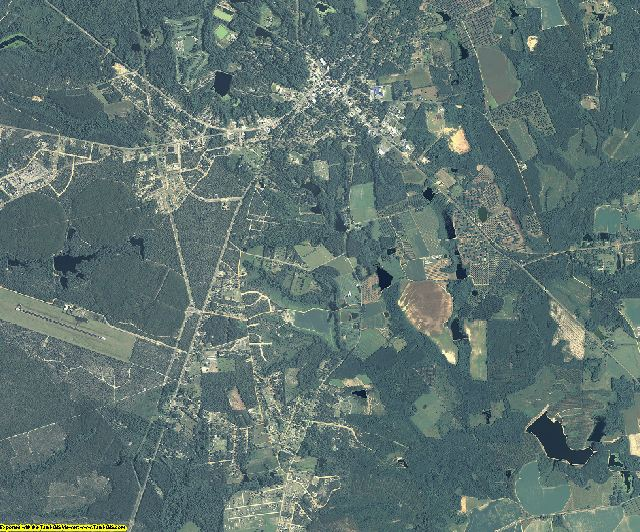 Tattnall County, Georgia aerial photography