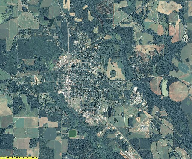 Terrell County, Georgia aerial photography