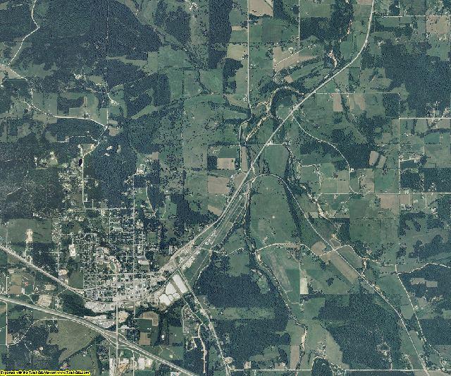 Texas County, Missouri aerial photography