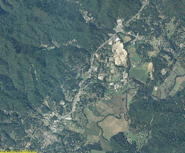 Transylvania County, North Carolina aerial photography