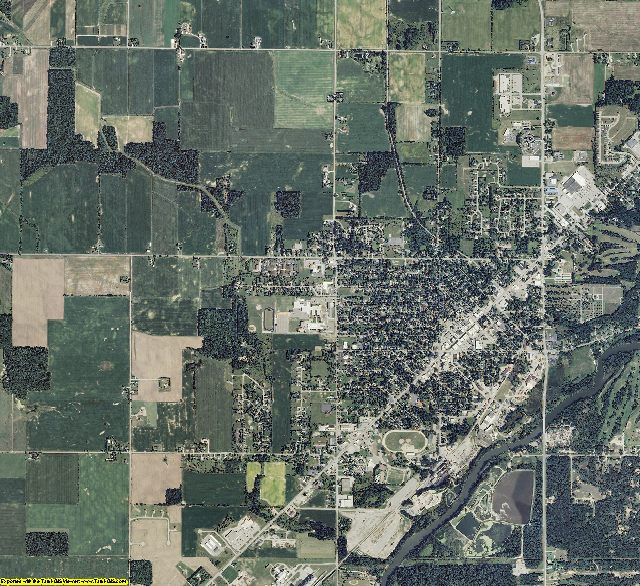 Tuscola County, Michigan aerial photography