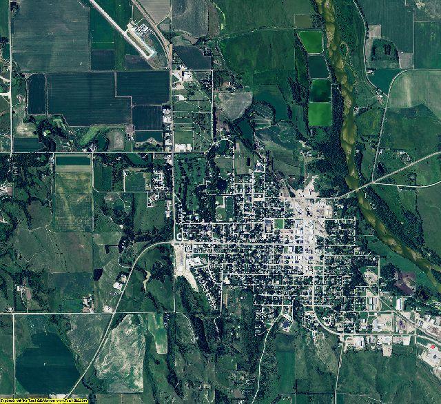 Valley County, Nebraska aerial photography