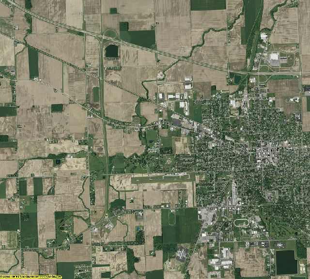 Van Wert County, Ohio aerial photography