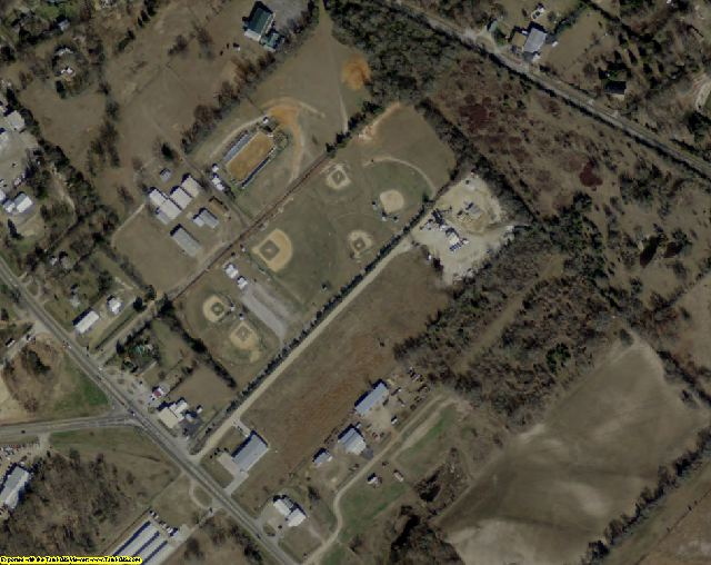 Van Zandt County, TX aerial photography detail