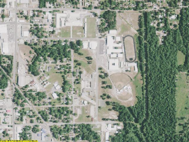 Vernon County, LA aerial photography detail