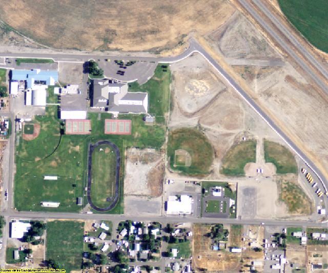 Walla Walla County, WA aerial photography detail