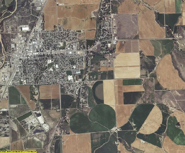 Washakie County, Wyoming aerial photography