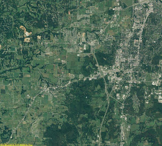 Washington County, Arkansas aerial photography