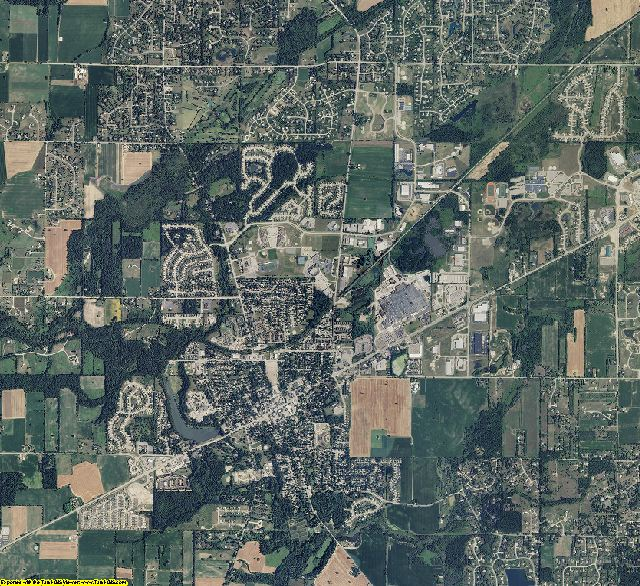 Washtenaw County, Michigan aerial photography