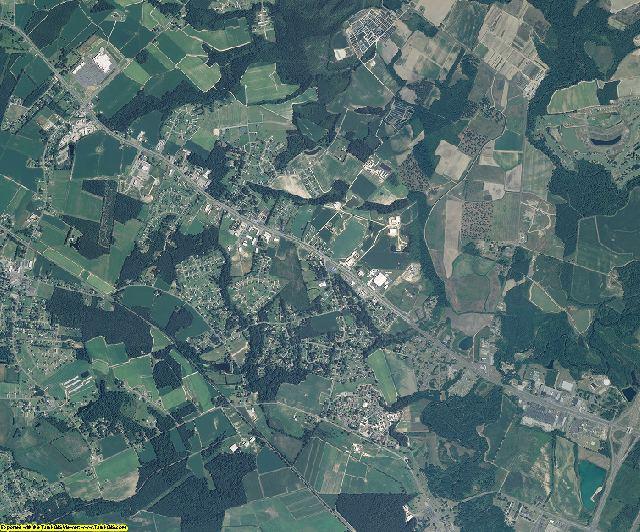 Wayne County, North Carolina aerial photography