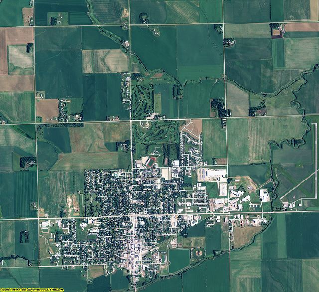 Wayne County, Nebraska aerial photography