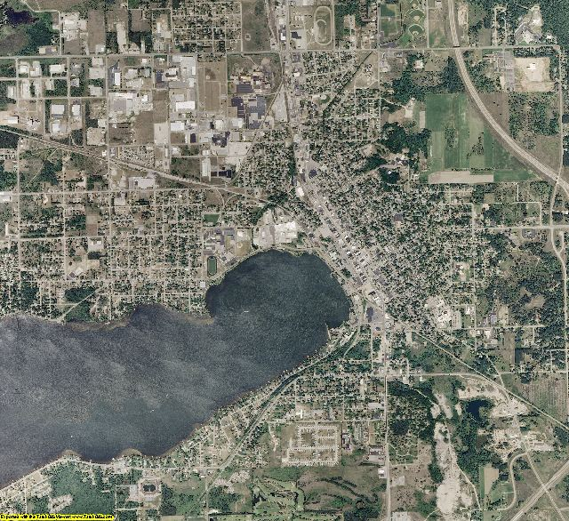 Wexford County, Michigan aerial photography