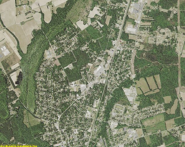 Williamsburg County, South Carolina aerial photography