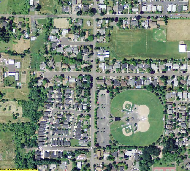 Yamhill County, OR aerial photography detail