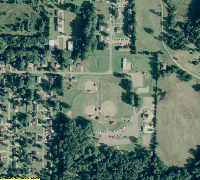 Yell County, AR aerial photography detail