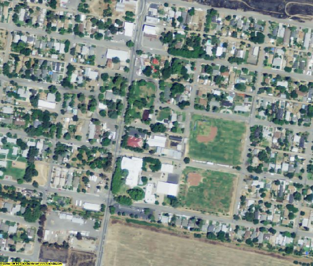 Yolo County, CA aerial photography detail