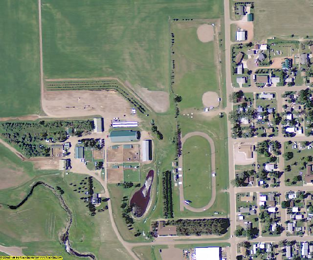 Adams County, ND aerial photography detail