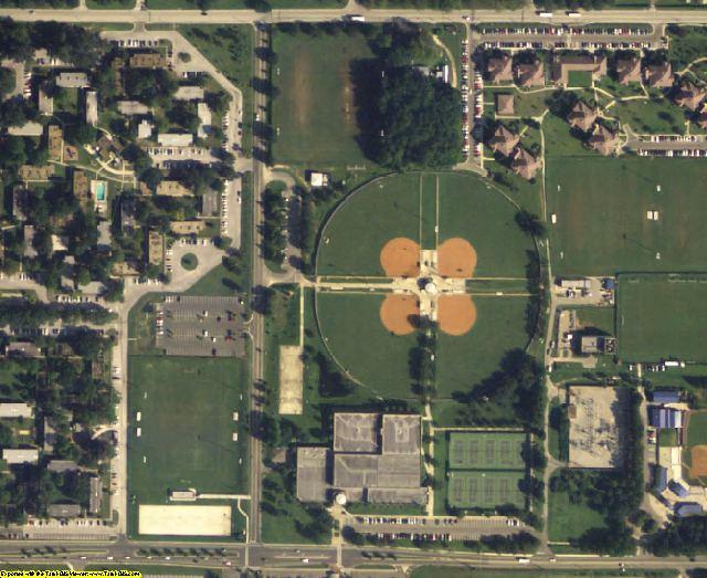 Alachua County, FL aerial photography detail