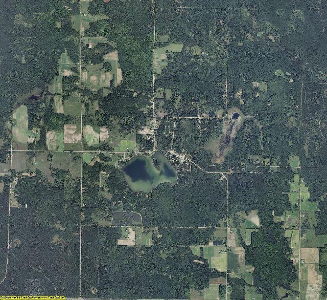 Alcona County, Michigan aerial photography