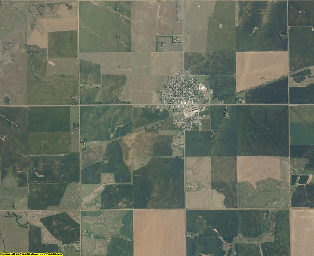 Alfalfa County, Oklahoma aerial photography