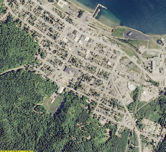 Alger County, MI aerial photography detail