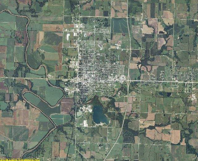 Allen County, Kansas aerial photography