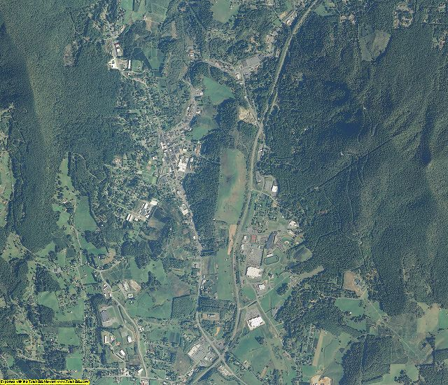 Ashe County, North Carolina aerial photography