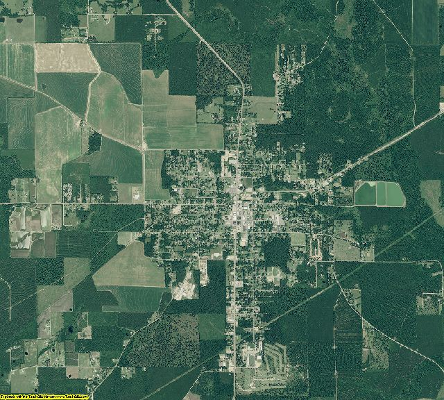 Ashley County, Arkansas aerial photography