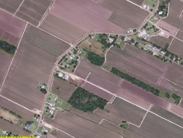 Assumption County, LA aerial photography detail