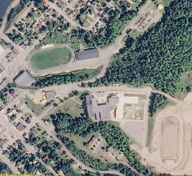 Baraga County, MI aerial photography detail