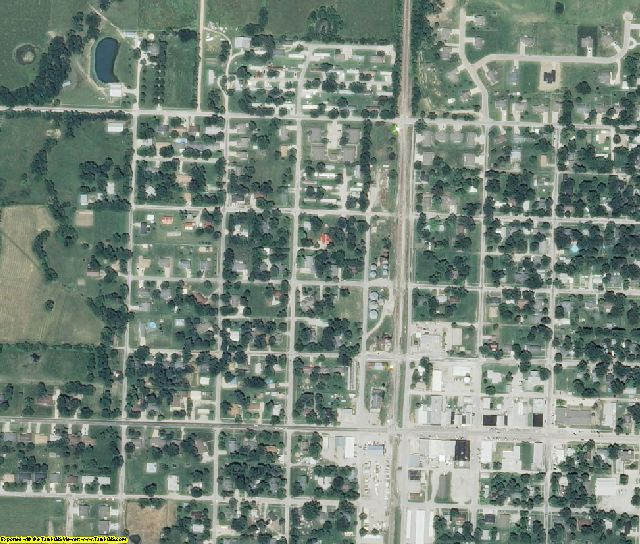 Bates County, MO aerial photography detail