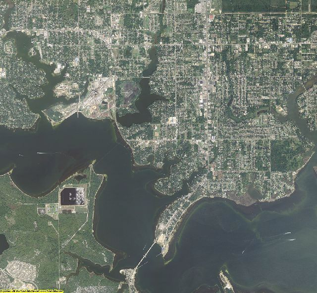 Bay County, Florida aerial photography