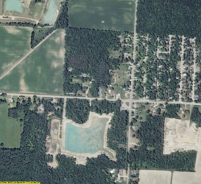Bay County, MI aerial photography detail