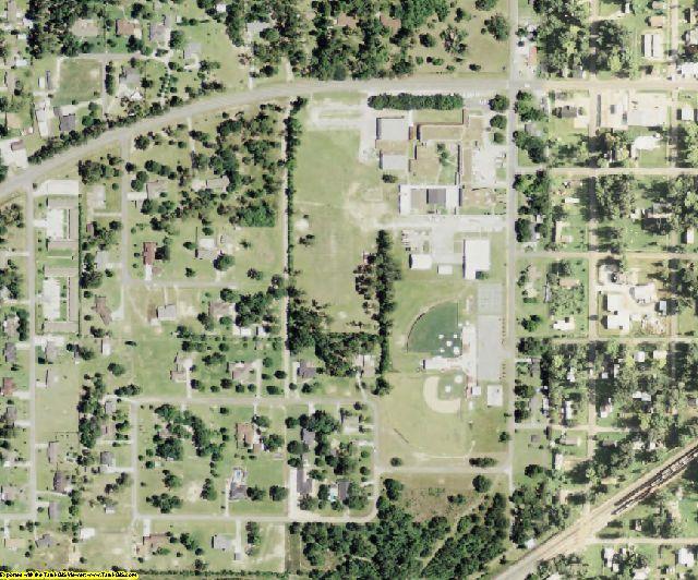 Beauregard County, LA aerial photography detail