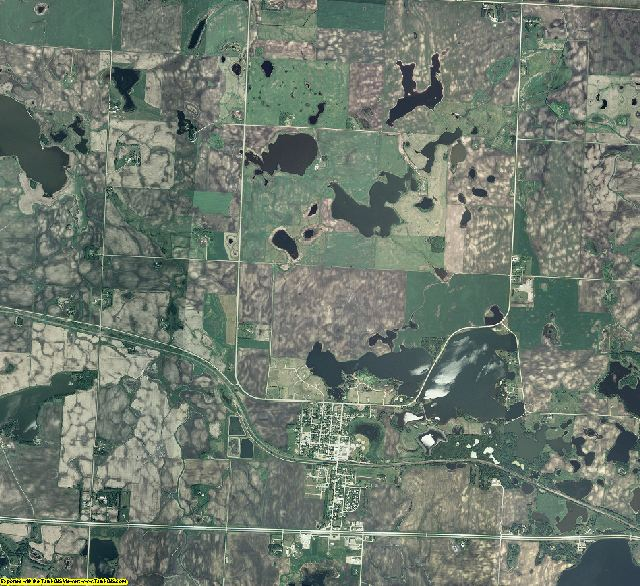Becker County, Minnesota aerial photography
