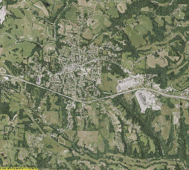 Belmont County, Ohio aerial photography