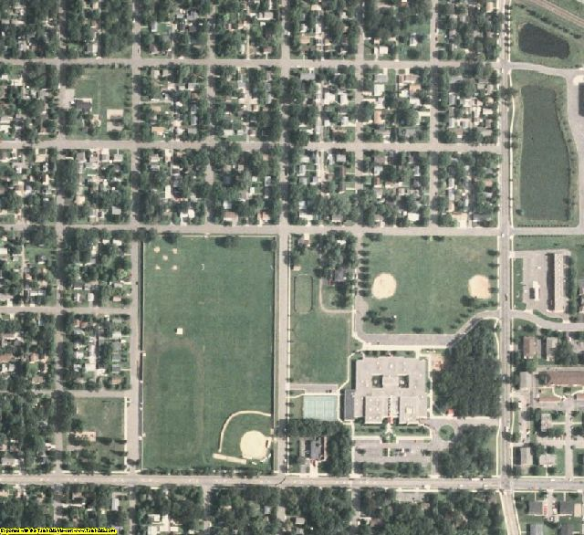 Benton County, MN aerial photography detail