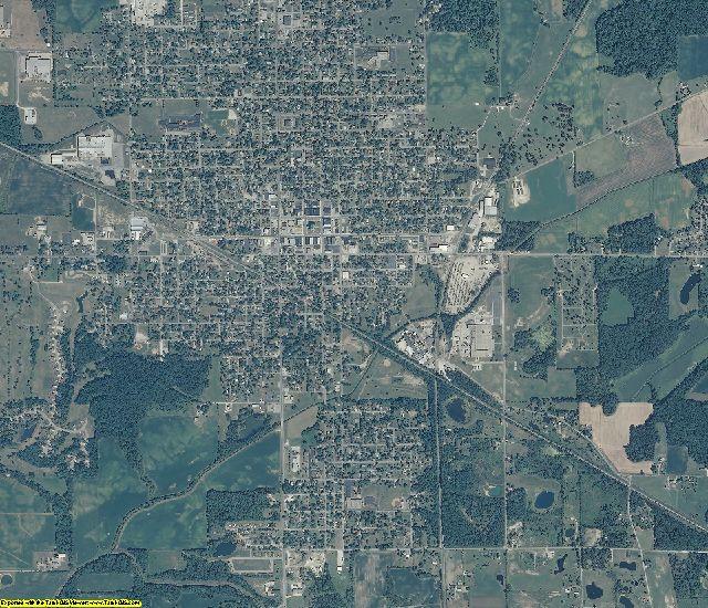 Blackford County, Indiana aerial photography