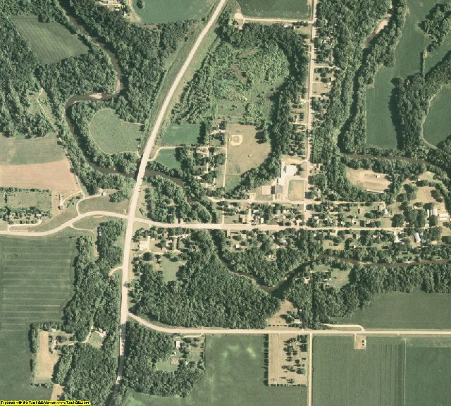 Blue Earth County, MN aerial photography detail