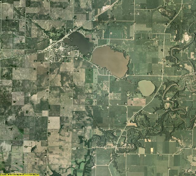 Blue Earth County, Minnesota aerial photography