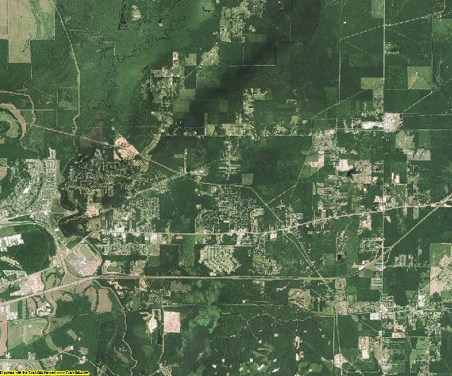 Bossier County, Louisiana aerial photography