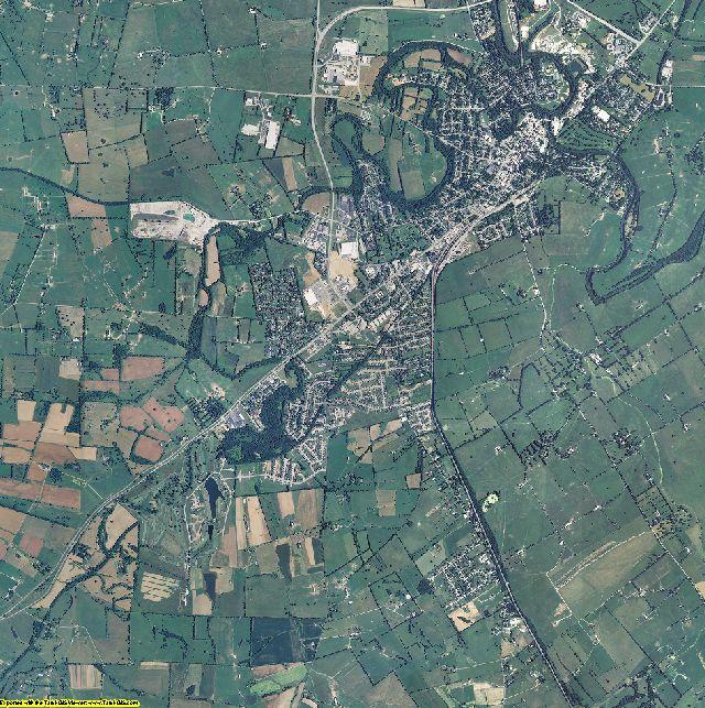 Bourbon County, Kentucky aerial photography