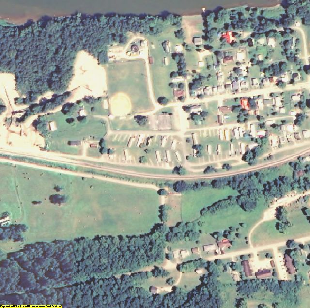 Breckinridge County, KY aerial photography detail