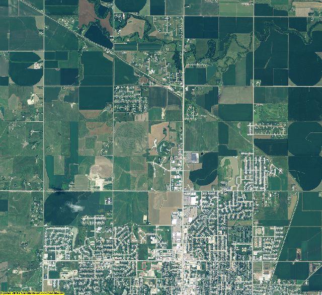 Buffalo County, Nebraska aerial photography