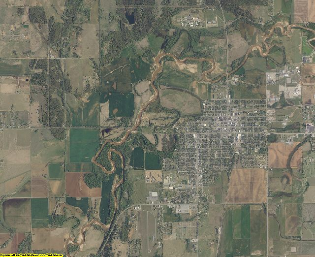 Caddo County, Oklahoma aerial photography