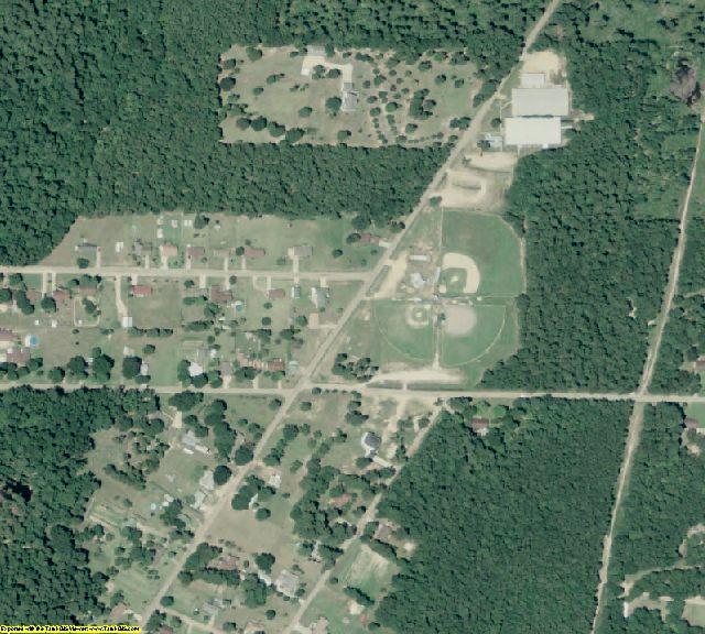 Calhoun County, AR aerial photography detail
