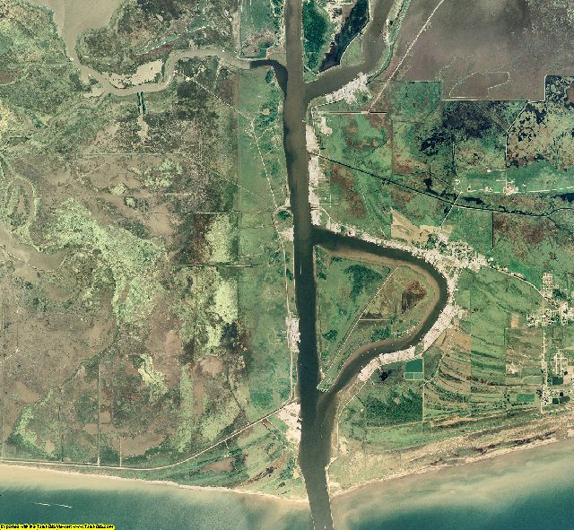 Cameron County, Louisiana aerial photography
