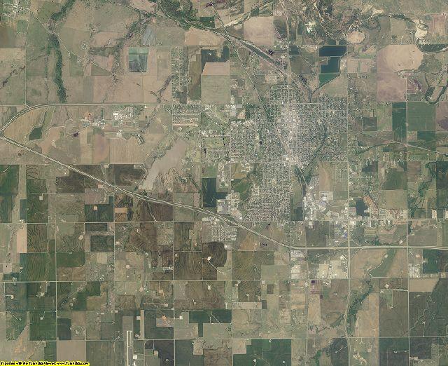 Canadian County, Oklahoma aerial photography