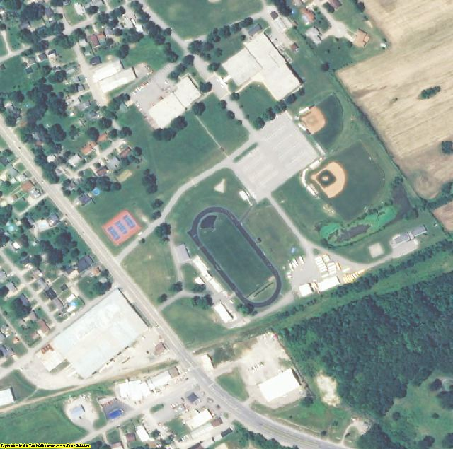 Carroll County, KY aerial photography detail