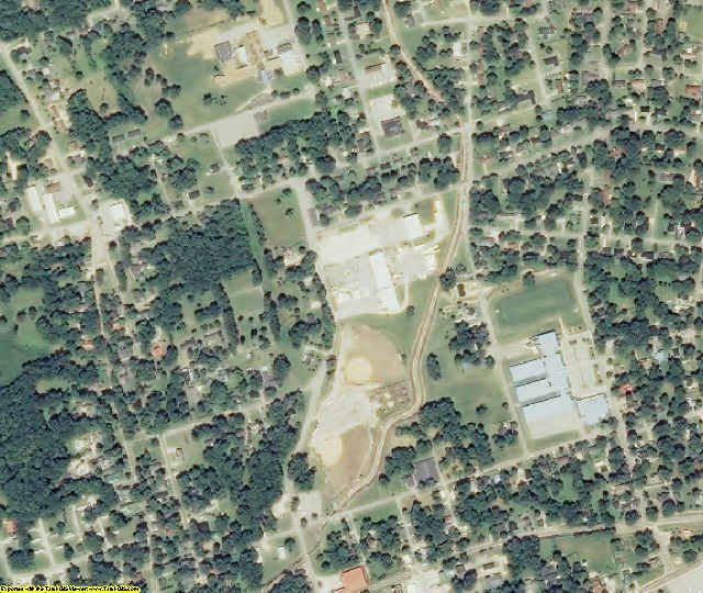 Carroll County, TN aerial photography detail